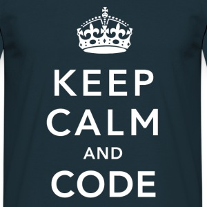 CALM DOWN AND CODE T-shirts - Mannen T-shirt