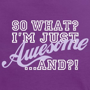 So What / Awesome - Frauen Kontrast-T-Shirt