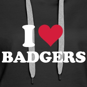 I Heart Badgers Hoodies & Sweatshirts - Women's Premium Hoodie