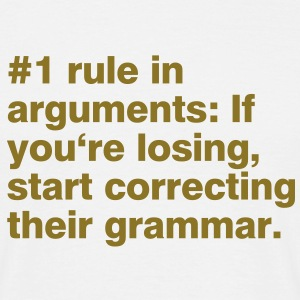 #1 rule in arguments T-skjorter - T-skjorte for menn