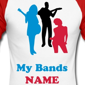 My bands Name Promotion - Men's Long Sleeve Baseball T-Shirt