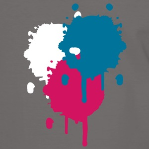 Three bright color spots in graffiti style T-Shirts - Men's Ringer Shirt