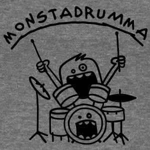 Monster Drummer Hoodies & Sweatshirts - Women's Boat Neck Long Sleeve Top