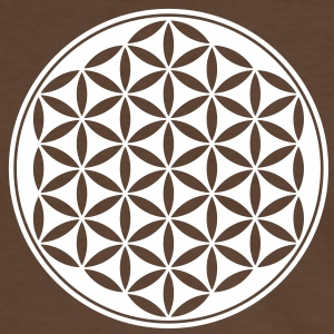 Vector - Flower of Life - 03, 1c, sacred geometry, energy, symbol, powerful, healing, protection, cl Koszulki - Koszulka męska z kontrastowymi wstawkami
