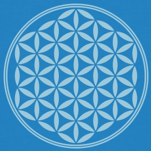 Vector - Flower of Life - 02, 1c, sacred geometry, energy, symbol, powerful, healing, protection, cl T-shirts - Mannen Bio-T-shirt