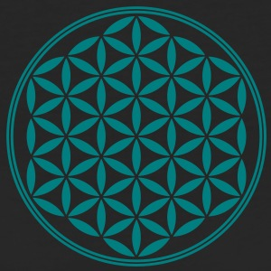 Vector - Flor de la vida - 02, 1c, sacred geometry, energy, symbol, powerful, healing, protection, cl Camisetas - Camiseta ecológica mujer