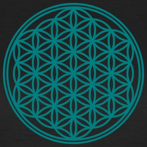 Vector - Flower of Life - 01, 1c, sacred geometry, energy, symbol, powerful, healing, protection, cl T-Shirts - Frauen T-Shirt