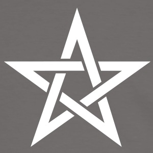 Star of the Magi - Pentagram - Sign of intellectual omnipotence and autocracy. Vector, Blazing Star, powerful symbol of protection Tee shirts - T-shirt contraste Homme