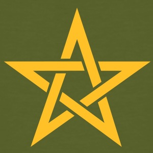 Star of the Magi - Pentagram - Sign of intellectual omnipotence and autocracy. Vector, Blazing Star, powerful symbol of protection T-shirt - T-shirt ecologica da uomo