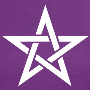 Star of the Magi - Pentagram - Sign of intellectual omnipotence and autocracy. Vector, Blazing Star, powerful symbol of protection Camisetas - Camiseta contraste mujer