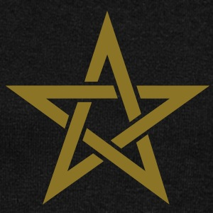 Star of the Magi - Pentagram - Sign of intellectual omnipotence and autocracy. Vector, Blazing Star, powerful symbol of protection Bluzy - Bluza damska Bella z dekoltem w łódkę