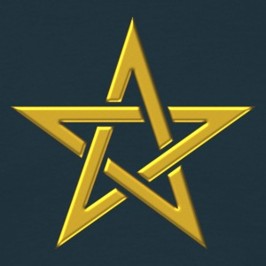 Star of the Magi - Pentagram - Sign of intellectual omnipotence and autocracy. gold, Blazing Star, powerful symbol of protection T-shirts - T-shirt herr