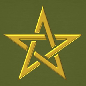 Star of the Magi - Pentagram - Sign of intellectual omnipotence and autocracy. gold, Blazing Star, powerful symbol of protection T-Shirts - Men's Organic T-shirt