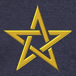 Star of the Magi - Pentagram - Sign of intellectual omnipotence and autocracy. gold, Blazing Star, powerful symbol of protection Bluzy - Bluza damska Bella z dekoltem w łódkę