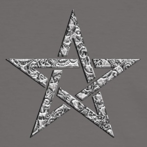 Star of the Magi - Pentagram - Sign of intellectual omnipotence and autocracy. digital, Blazing Star, powerful symbol of protection T-shirts - Herre kontrast-T-shirt