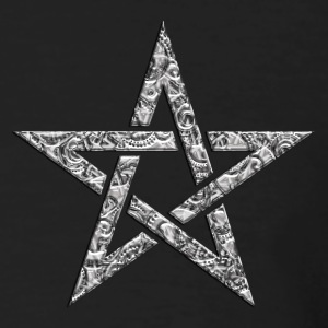 Star of the Magi - Pentagram - Sign of intellectual omnipotence and autocracy. digital, Blazing Star, powerful symbol of protection T-shirt - T-shirt ecologica da uomo