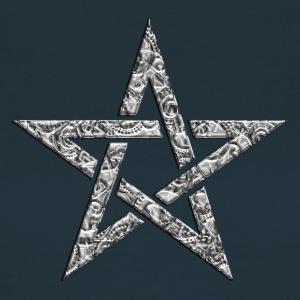 Star of the Magi - Pentagram - Sign of intellectual omnipotence and autocracy. digital, Blazing Star, powerful symbol of protection T-shirts - T-shirt dam