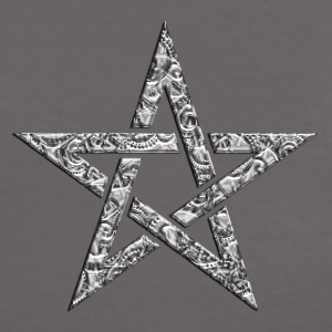 Star of the Magi - Pentagram - Sign of intellectual omnipotence and autocracy. digital, Blazing Star, powerful symbol of protection T-skjorter - Kontrast-T-skjorte for kvinner