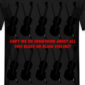 violins (for dark bkg)  - Men's T-Shirt