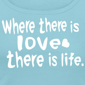 Where there is love there is life  Women's scoop neck t-shirt - Women's Scoop Neck T-Shirt