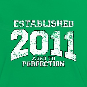 established 2011 - aged to perfection (dk) T-shirts - Dame kontrast-T-shirt