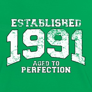 established 1991 - aged to perfection (fr) Tee shirts - T-shirt contraste Femme