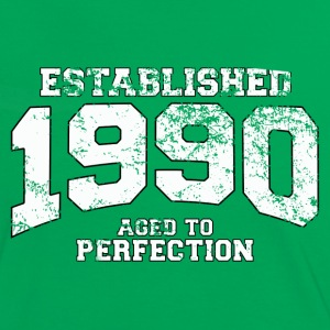 established 1990 - aged to perfection (fr) Tee shirts - T-shirt contraste Femme