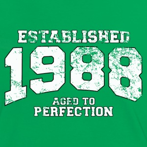 established 1988 - aged to perfection (es) Camisetas - Camiseta contraste mujer