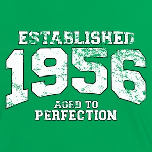 established 1956 - aged to perfection (sv) T-shirts - Kontrast-T-shirt dam