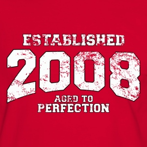 established 2008 - aged to perfection (nl) T-shirts - Mannen contrastshirt