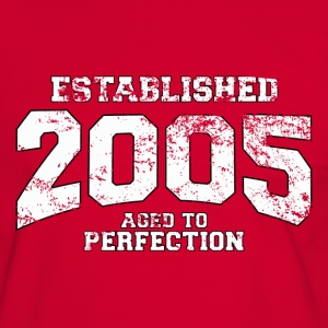 established 2005 - aged to perfection (nl) T-shirts - Mannen contrastshirt