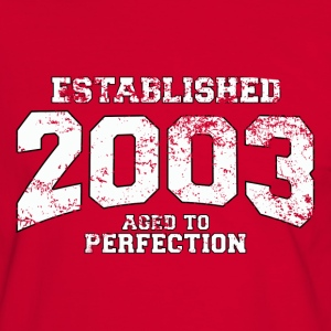 Geburtstag - established 2003 - aged to perfection - Männer Kontrast-T-Shirt