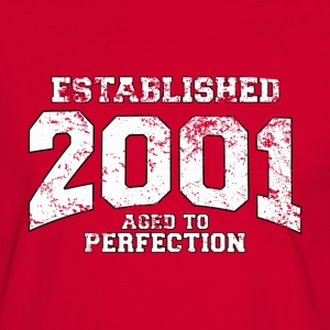 established 2001 - aged to perfection (dk) T-shirts - Herre kontrast-T-shirt