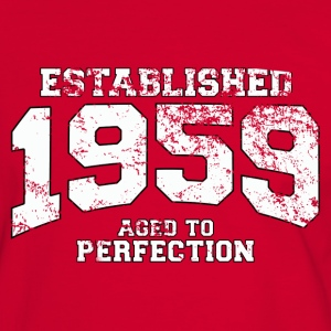 established 1959 - aged to perfection (fr) Tee shirts - T-shirt contraste Homme