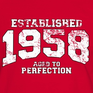 established 1958 - aged to perfection (es) Camisetas - Camiseta contraste hombre