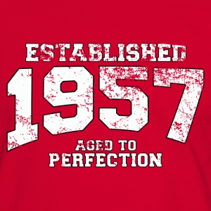 established 1957 - aged to perfection (fr) Tee shirts - T-shirt contraste Homme
