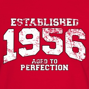 established 1956 - aged to perfection (nl) T-shirts - Mannen contrastshirt