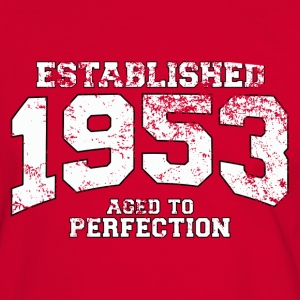 established 1953 - aged to perfection (es) Camisetas - Camiseta contraste hombre