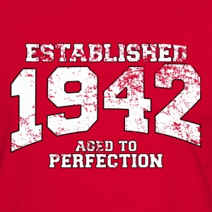 established 1942 - aged to perfection (es) Camisetas - Camiseta contraste hombre