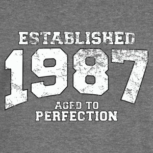 established 1987 - aged to perfection (uk) Hoodies & Sweatshirts - Women's Boat Neck Long Sleeve Top