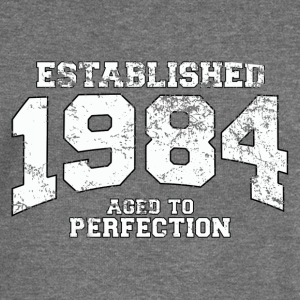 established 1984 - aged to perfection (uk) Hoodies & Sweatshirts - Women's Boat Neck Long Sleeve Top