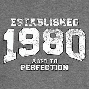 established 1980 - aged to perfection (uk) Hoodies & Sweatshirts - Women's Boat Neck Long Sleeve Top