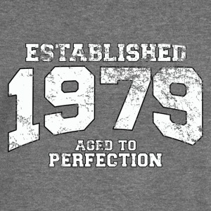 established 1979 - aged to perfection (uk) Hoodies & Sweatshirts - Women's Boat Neck Long Sleeve Top