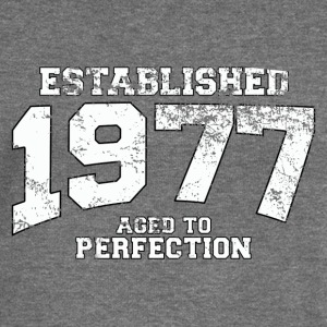 established 1977 - aged to perfection (uk) Hoodies & Sweatshirts - Women's Boat Neck Long Sleeve Top