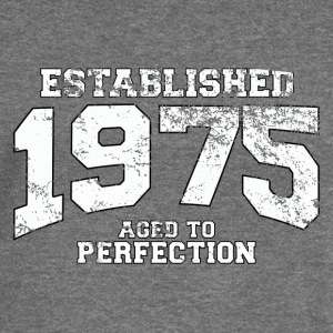 established 1975 - aged to perfection (uk) Hoodies & Sweatshirts - Women's Boat Neck Long Sleeve Top