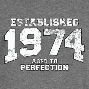 established 1974 - aged to perfection (uk) Hoodies & Sweatshirts - Women's Boat Neck Long Sleeve Top