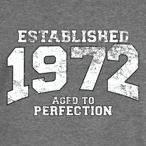 established 1972 - aged to perfection (uk) Hoodies & Sweatshirts - Women's Boat Neck Long Sleeve Top
