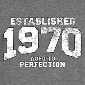 established 1970 - aged to perfection (uk) Hoodies & Sweatshirts - Women's Boat Neck Long Sleeve Top