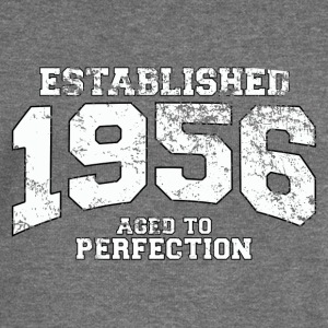 established 1956 - aged to perfection (uk) Hoodies & Sweatshirts - Women's Boat Neck Long Sleeve Top