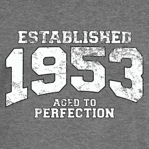 established 1953 - aged to perfection (uk) Hoodies & Sweatshirts - Women's Boat Neck Long Sleeve Top